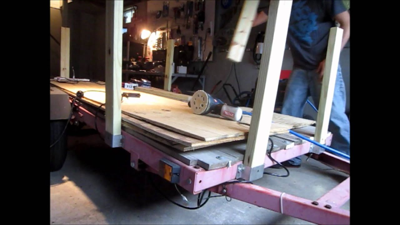 How to build utility trailer sides youtube for How to build a side by side