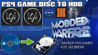 Backup PS4 Disc Games to HDD (4.05 Jailbreak)