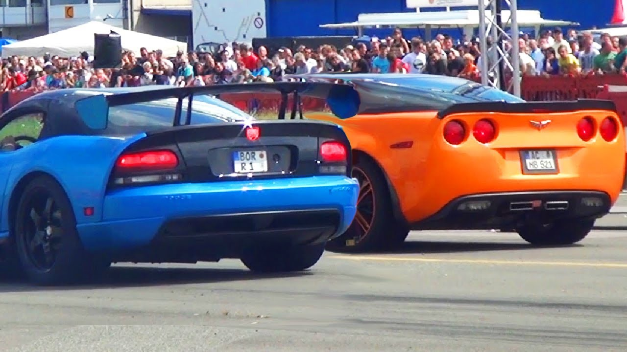 dodge-viper-srt10-vs-corvette-c6-zr1-drag-race-1-4-mile-sound-viertelmeile-rennen-acceleration