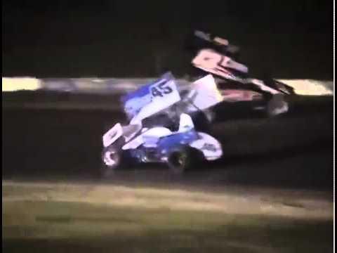 Tony Stewart Hits Sprint Car Driver Kevin Ward Jr VIDEO Canandaigua Motorsports Park 2014