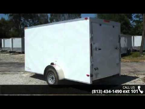 New 6x12 MOVING TRAILER! Enclosed Trailers with Ramp and... - YouTube