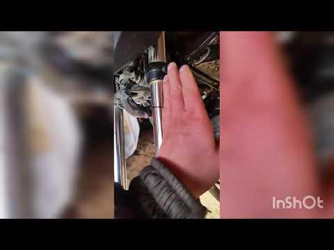 как выровнять штоки - вилку - передний амортизатор в мотоцикле.