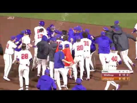 Clemson Baseball || Winthrop Game Highlights - 2/27/18