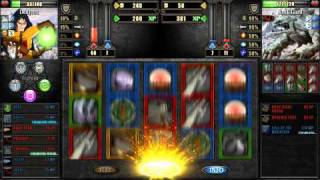 trying to beat a Rock Giant in Battle Slots: Role Playing Game