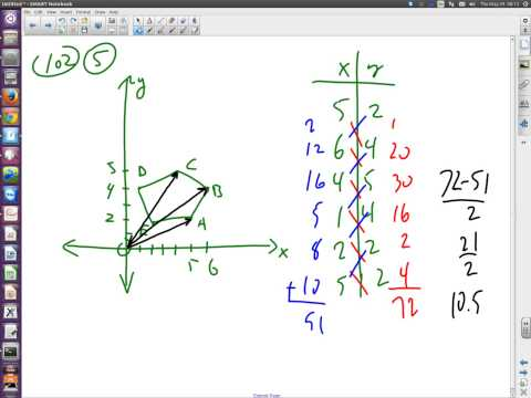 LAC2014 (TI-89) 102 Day04 3D Vectors and the ShoeLace Algorithm!