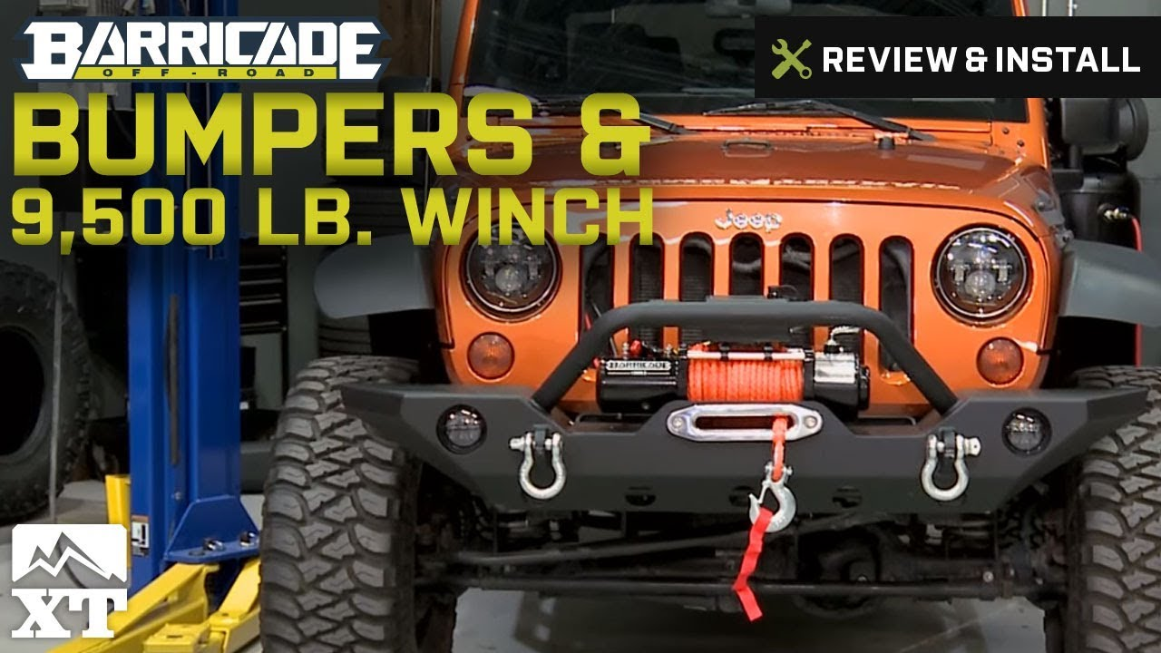 Winch Wiring Jeep Wrangler 2007 2017 Jk Barricade Bumpers 9500 Lb Review Install