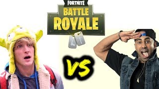 LOGAN PAUL GETS ELIMINATED ON FORTNITE TOURNAMENT PAR FOUSEY TUBE ON STREAM!!!