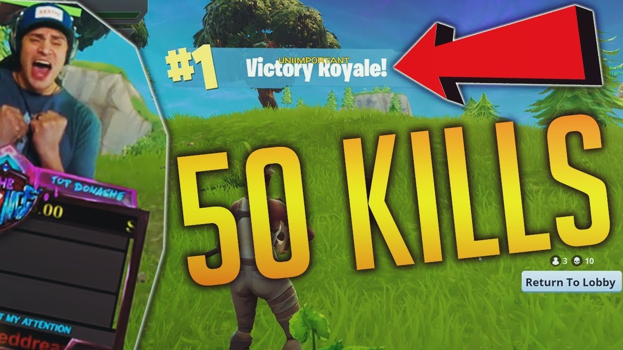 50 Kills World Record Fortnite Battle Royale Funny Wtf Moments