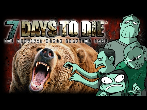 7 Days to Die - #7 - Ash, the Bear Whisperer (4 Player Gameplay)