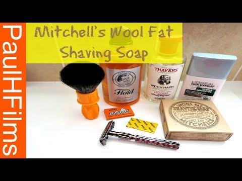 Mitchell's Wool Fat Shaving Soap (Bradford) England.