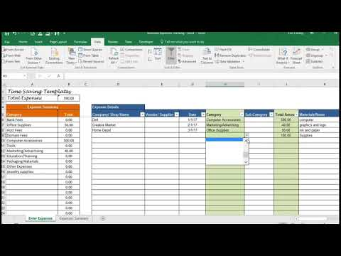 Business Expenses Template, Overhead Expenses Tracking