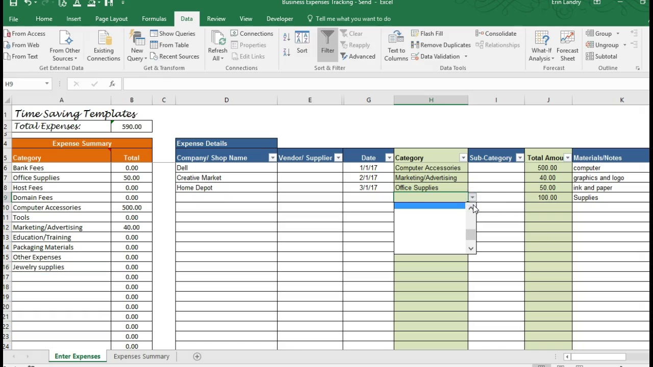 Using a business plan template ensures that you have considered all of the major factors — the good, the bad and the ugly — before moving ahead with launching your small business. Business Expenses Template Overhead Expenses Tracking Youtube