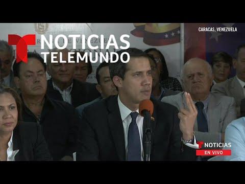 EN VIVO: Declaraciones del presidente interino de Venezuela, Juan Guaidó   Noticias Telemundo