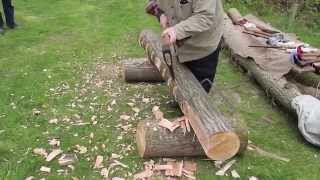 Traditionele Log aan de Straal Behouwing - Grote Assen