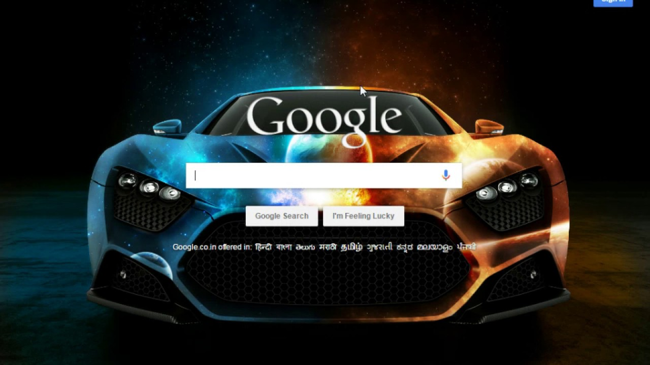 how to change background image for google homepage youtube