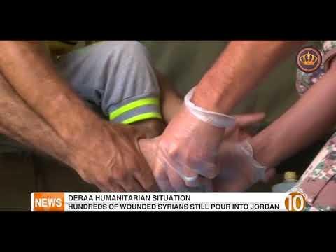 English News at Ten on Jordan Television 04-07-2018