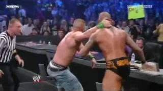 John Cena vs Randy Orton Breaking Point I Quit Match 2009 - Highlights