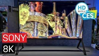 SONY ZG9 Android TV 8K e nuovi OLED AG9 e AG8 | CES 2019