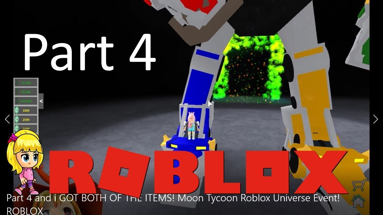 Chloe Tuber Roblox Moon Tycoon Gameplay Universe Event - robloks ivent voltron roblox event