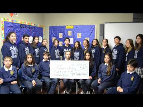 Proud Students at KZV Armenian School in San Francisco Donate to Armenia Fund