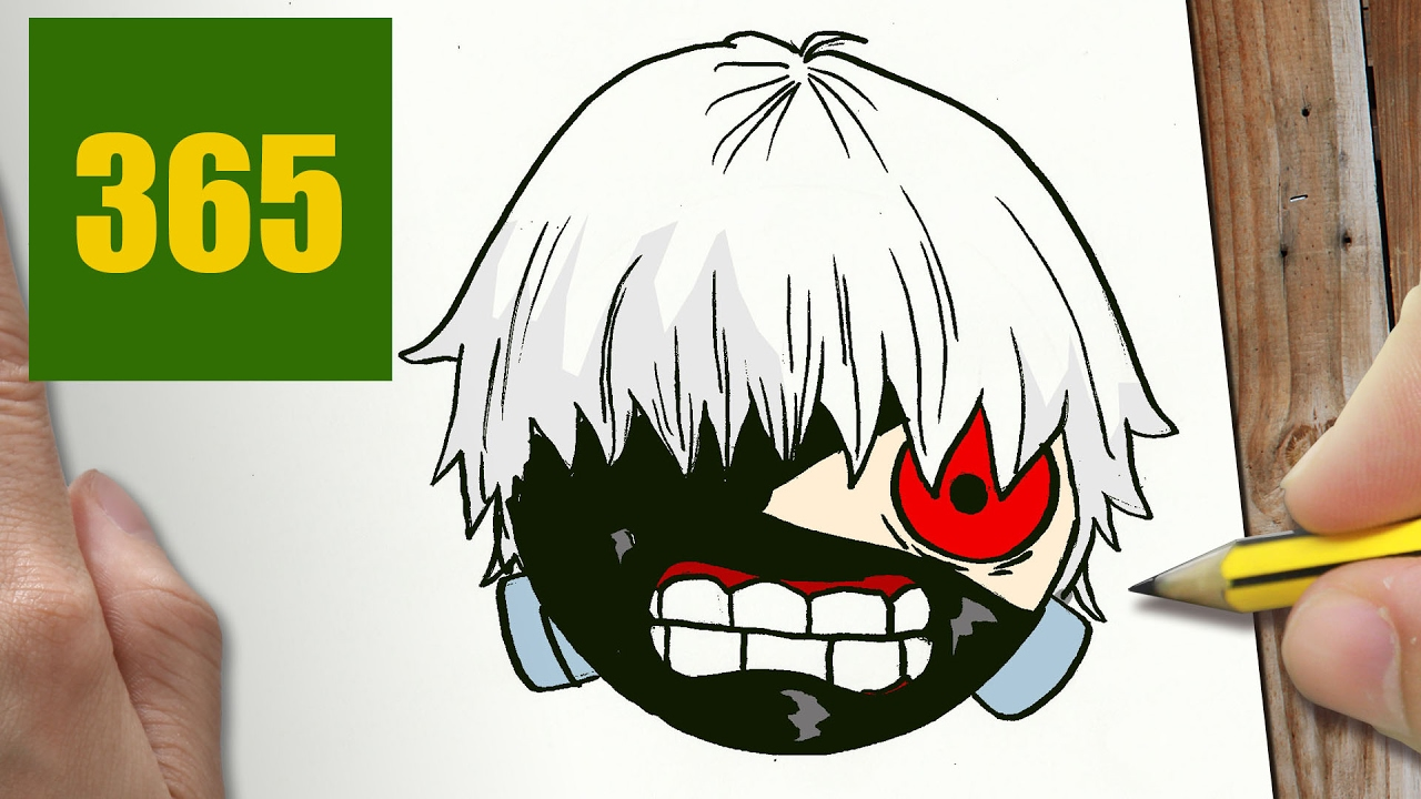 Comment dessiner kaneki tokyo ghoul kawaii tape par tape dessins kawaii facile youtube - Dessins a dessiner facile ...