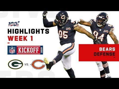 Bears Rack Up 5 Sacks vs. Packers   NFL 2019 Highlights
