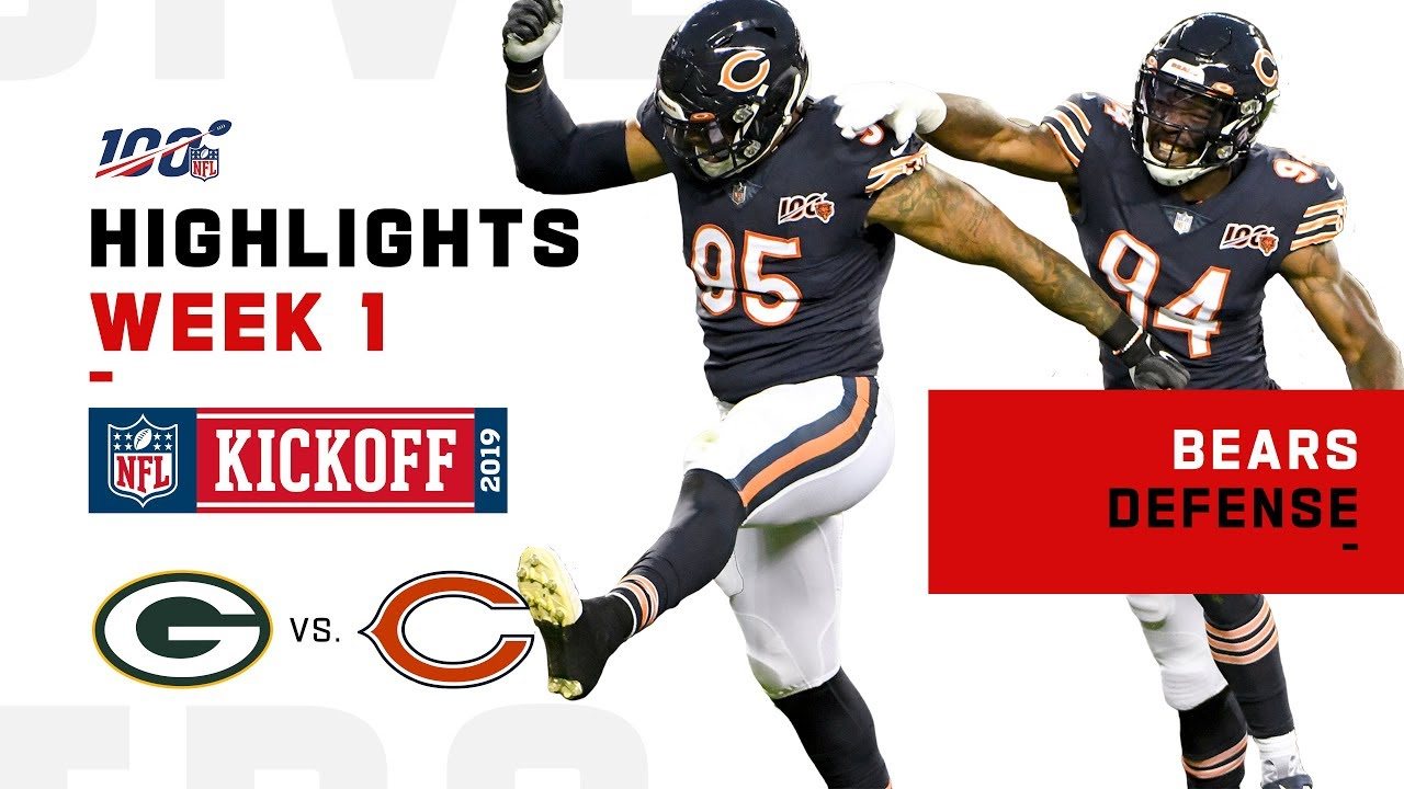 Bears Rack Up 5 Sacks Vs Packers Nfl 2019 Highlights