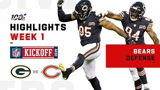 Bears Rack Up 5 Sacks vs. Packers | NFL 2019 Highlights