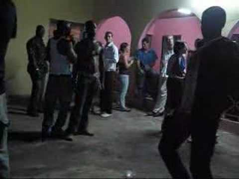 Dancing at a party in Accra, Ghana