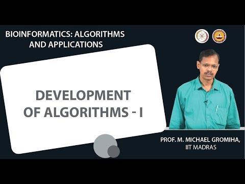 Development of algorithms - I