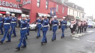 Saltcoats Protestant  Boys The Sash   Retrun Parade after killwining Orange Walk 30 06 12 2