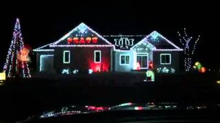 Christmas Lights 2014 IU Fight Song