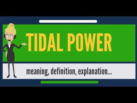 What is TIDAL POWER? What does TIDAL POWER mean? TIDAL POWER meaning, definition & explanation