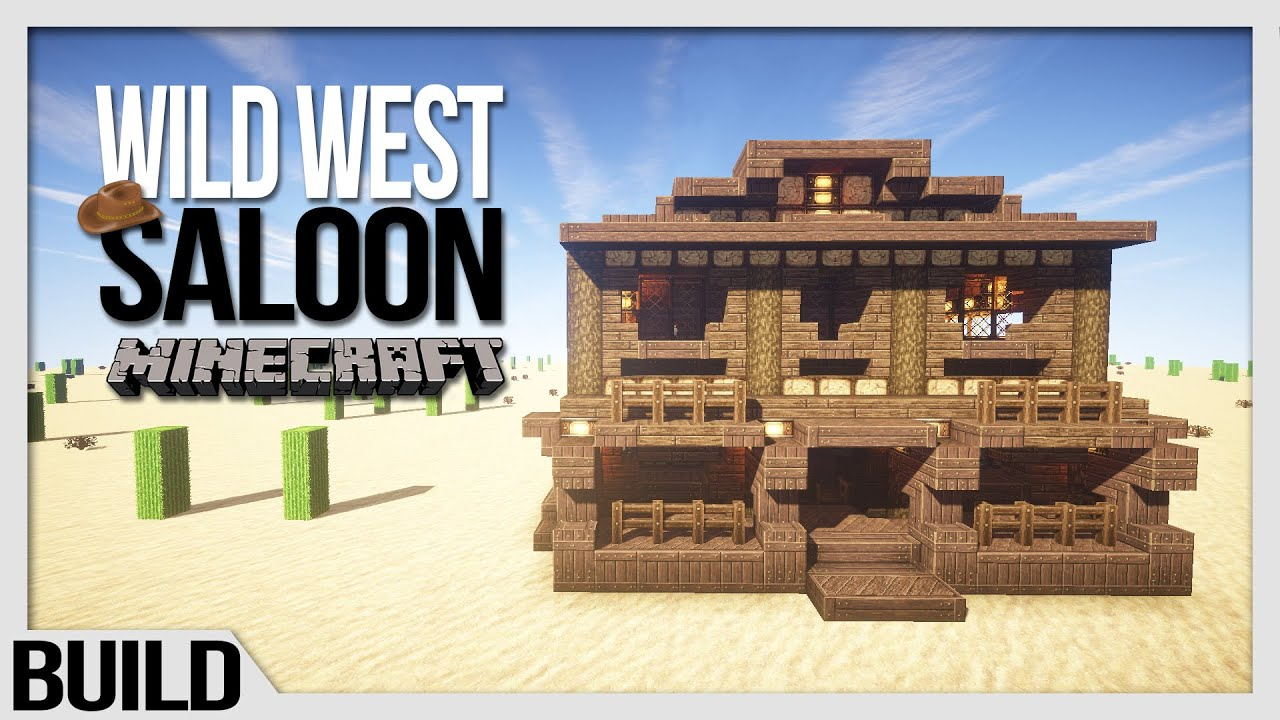 Lets Build Minecraft Wild West Saloon YouTube