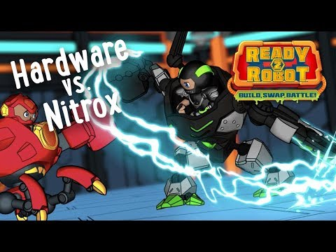 Ready2Robot | Slime Robot Battles | Episode 3: Hardware vs. Nitrox | Cartoon Webisode for Kids