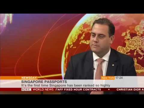 BBC World featuring Arton Capital's Passport Index