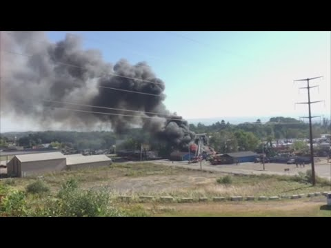 Weitsman Recycling Fire