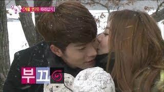 【TVPP】Yura(Girl's Day) - Winter Sonata by JJONA, 유라(걸스데이) - 수줍은 볼 뽀뽀♥ 겨울 연가 패러디 @ We Got Married