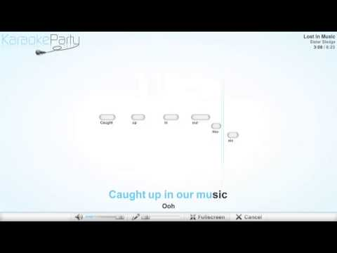 Sister Sledge - Lost In Music - karaoke