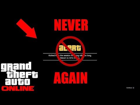 NEVER GET KICKED AFK ONLINE GLITCHES/TRICKS! (GTA 5 Online) Disable Idle Kick While AFK! *EASY*