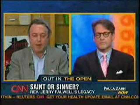 Christopher Hitchens on Paula Zahn (CNN) about Rev. Falwell's Death