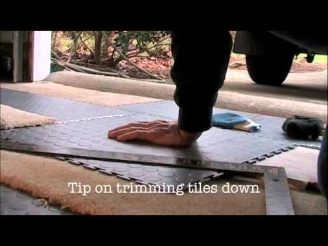 How To Install Garage Floor Tiles part 2  YouTube