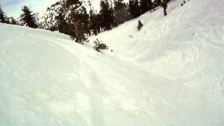 Snowboarding Kirkwood Gulch 1/24/2012