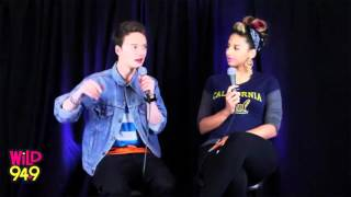Nessa Interviews Conor Maynard @ Wild 94.9 on June 14,2012