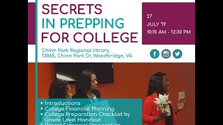 The 2nd Meetup is on! - 27 July 2019 - Secrets to Prepping in College