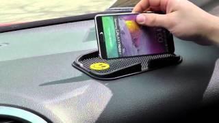 ОБЗОР: Силиконовый Антискользящий Коврик-Липучка для Телефонов для Автомобиля (11см х18см)(Цена и наличие тут: ..., 2016-06-10T10:20:19.000Z)