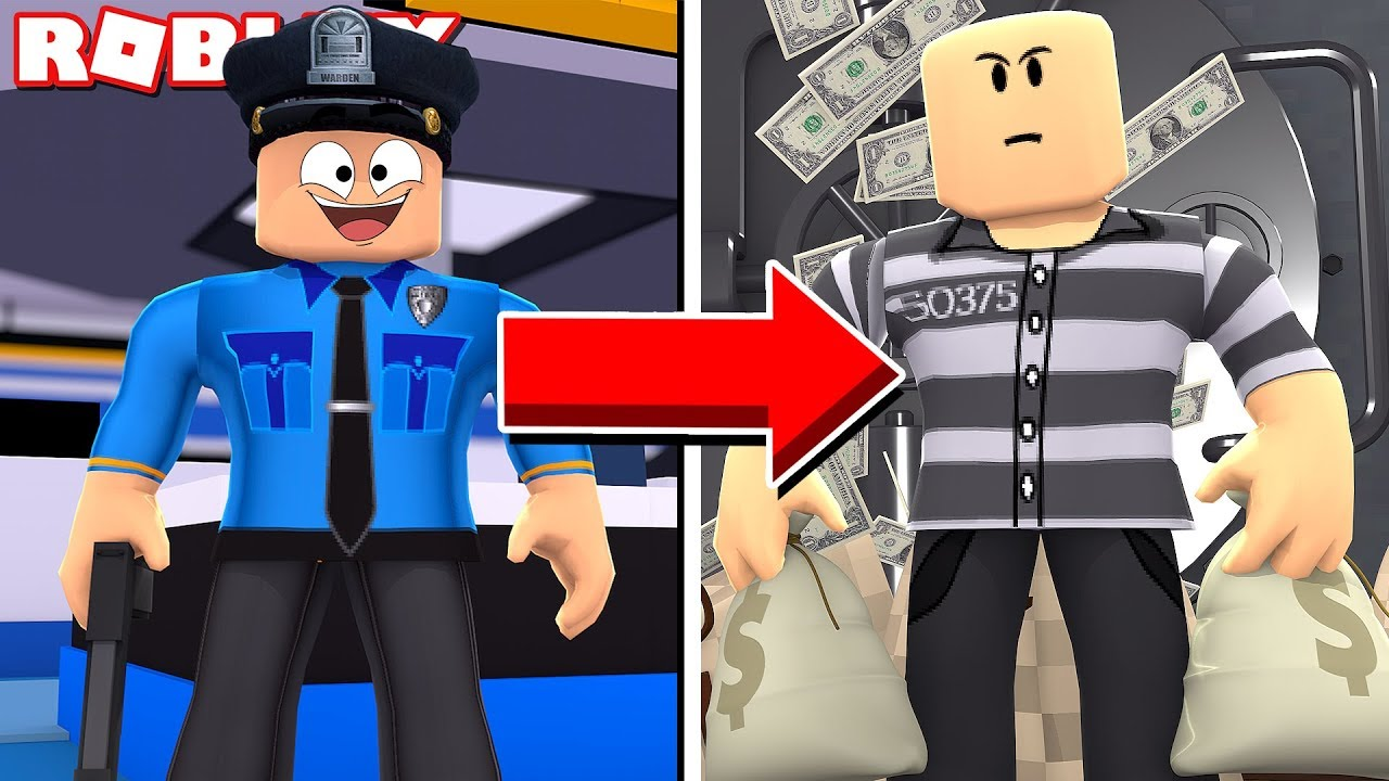 Roblox Jailbreak Cop With A Prisoner Outfit Youtube Cop To Criminal A Sad Roblox Jailbreak Movie Youtube