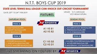 1ST SEMI FINAL I STRIKERS V/S  NASH | N.T.I BOYS CUP | BANGALORE | 2019