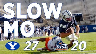 Slow motion highlights from the byu football 27-20 win over utsa on october 10, 2020. #gocougs #byufootball