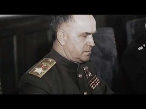 09/05/1945 WW2 soviet troops enter prague. in berlin keitel signs all germany surrender